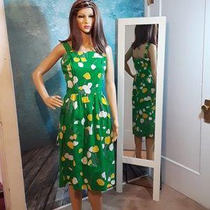 Vintage 70s JJ Dean floral print sundress size 10